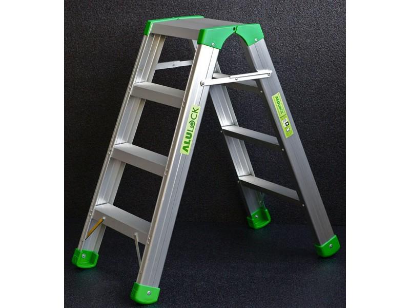 aluminium step ladder 4 steps litelock. Black Bedroom Furniture Sets. Home Design Ideas